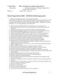 Cv Resume Of Qc Plant Inspector