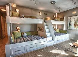 built in bunk beds. Delighful Bunk Custom Built Bunk Beds Four Bunk Beds With Ladder In The Middle Utilized  Length And Unique Shape Of Room By Building A Double Twinoverfull  Inside In Beds E
