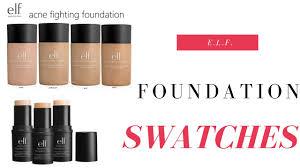 E L F Foundation Swatches
