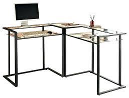 l glass desk chair engaging glasetal desk pretty computer on l shaped in black l glass desk
