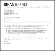 Inventory Controller Cover Letter Sample Cover Letter Templates