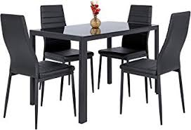 best choice products 5 piece kitchen dining table set wglass top 4 leather chairs furniture chair set r9 furniture