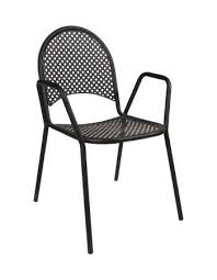 outdoor stack chairs. Our Milan Black Metal Outdoor Stack Chair Adds A Modern Aesthetic To Your Indoor/outdoor Chairs