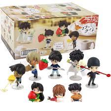 8 stücke 5cm Detective Conan Figuren Shinichi Kudo Lief Mouri Heiji Hattori  Ai Haibara Bourbon Furuya Rei Akai Shuuichi modell Spielzeug|Action  Figures