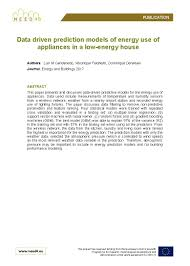 House Of Appliances Data Driven Prediction Models Of Energy Use Of Appliances In A Low