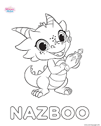 Print Shimmer And Shine Nazboo Coloring Pages Kiddo Crap Free