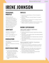 Resume Examples 2017 Resume Best Format For Nurses 2018