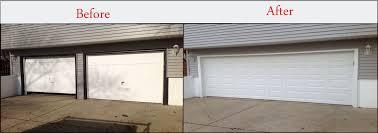 two car garage doorGarage Doors Before and AfterGarage Door Installation  Aladdin Doors