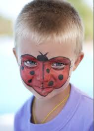 kids face makeup ideas party ladybug face mask