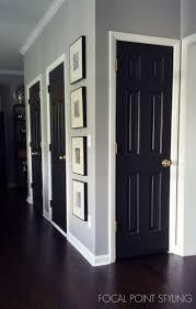 how to paint interior doors black update brass hardware