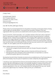 Cover Letter For Us Postal Service Job Secretary Cover Letter Example Resume Genius