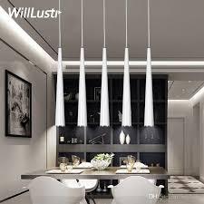 modern led cone pendant lamp aluminum suspension lighting hanging lamps black white red sliver light minimalism luxury lights pendant fixtures ceiling