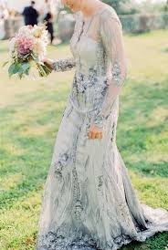 picture of blue silver wedding dress with intricate embellishments