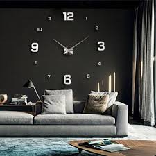 decorative gift wrapping on at reasonable s new unique fashion large diy wall clock gold shine mirror stickers design home decor arts hours
