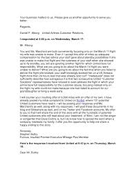 Letter To Airline Airline Complaint Letter For Letter Complaint Letter To