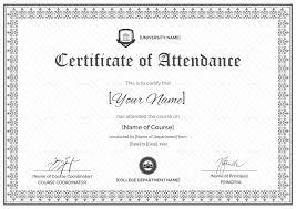 Attendance Certificate Template Course Attendance Certificate Design Template In PSD Word 15