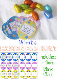 easter egg hunt template printable easter egg hunt ideas clues fun with mama