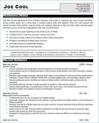 Military Veteran Resume Examples From How To Write A Military Resume
