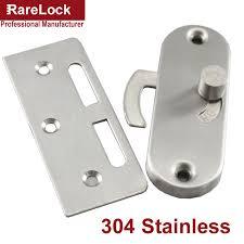 Rarelock Christmas Supplies Stainless Latch Sliding Door Lock for ...