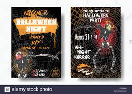 Halloween Dance Flyer Templates Halloween Set Of Vertical Background With Skeletons Dancing