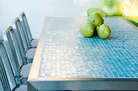 image of glass tile countertop ideas