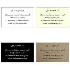 10 Wishing Well Cards Invitation Inserts Wedding Invitations