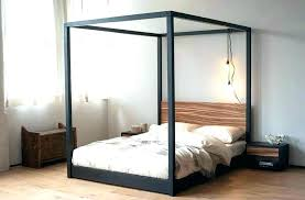 Silver Canopy Bed Furniture Steel Bed With Silver Canopy Bed Plan ...