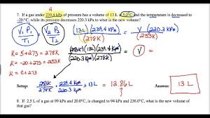 Lecture 1 20r Combined Gas Law Calculations