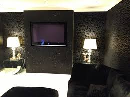 Wallpapered Living Rooms Black Wallpaper Living Room Ideas Nomadiceuphoriacom