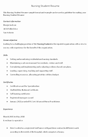 28 Creative Nursing Student Resume Template Example Design Template
