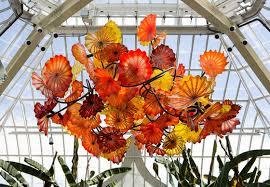 art glass chandelier hang ceiling lighting image