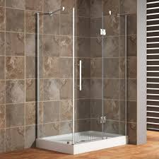 glass shower door ideas beautiful 48 x 34 rectangular corner shower enclosure with hinged