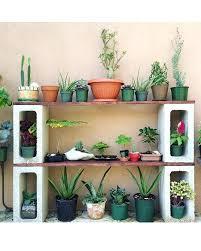 outdoor garden shelves cinder block plant shelf potting table herb garden on deck outdoor herb garden shelves