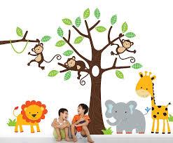 children s jungle wall stickers