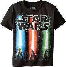 Star Wars Boys' T-Shirt, Saber Black ...