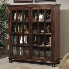 bookcase with sliding glass doors awesome stylish furniture white wooden on within door cabinet decorating kitchen island attractive bookshelf barn doo