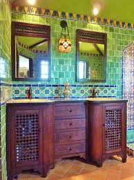 Mexican Bathroom bathroom using mexican tiles green blue orange red i love that 6546 by guidejewelry.us