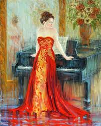 saatchi art artist september mcgee painting piano series the singer iii