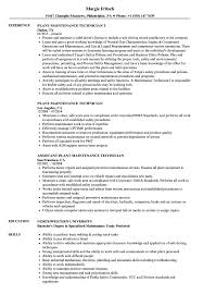 Maintenance Technician Job Description Resume Plant Maintenance Technician Resume Samples Velvet Jobs 23