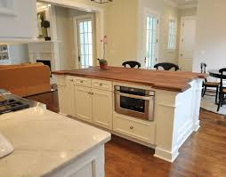contemporary island microwave in island throughout kitchen with