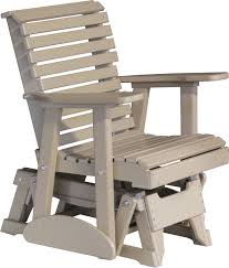 POLYWOOD Classic Recycled Plastic 2 Ft Adirondack Outdoor Glider Outdoor Glider Furniture