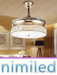 compre nimi931 invisível ventilador de teto luminárias sala de estar sala de jantar sala de jantar moderna re minimalista luminária de luxo iluminação