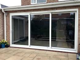 panel sliding glass patio doors for modern door triple three 4 with built in blinds s
