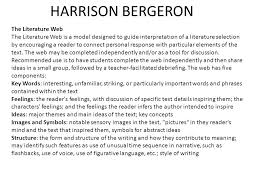 harrison bergeron is a satirical and dystopian science fiction  2 harrison