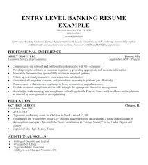 Bank Resume Samples