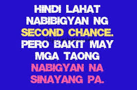 Tagalog Quote About Asking Chance