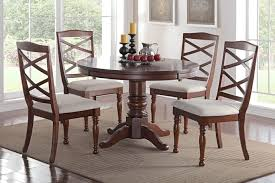 f2288 1544 5 pc bridget iii collection cherry finish wood round dining table set with