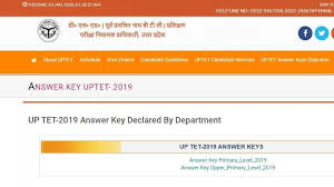 UPTET 2019 <b>Answer</b> key: Last date to <b>raise</b> objections tomorrow ...
