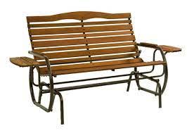 jack post glider outdoor wood bench