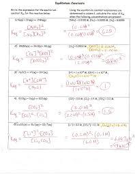 wkst equilibrium constants